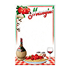 ITALIAN MENU BOARD (12/CASE) PARTY SUPPLIES