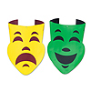 PKGD FOIL COMEDY & TRAGEDY FACES (24/CS) PARTY SUPPLIES