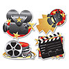 MOVIE SET CUTOUTS (48/CS) PARTY SUPPLIES