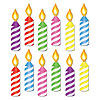 MINI BIRTHDAY CANDLE CUTOUTS PARTY SUPPLIES