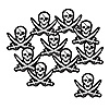 MINI PIRATE CUTOUTS (240/CASE) PARTY SUPPLIES