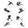 DISCONTINUED WINTER SPORTS CUTOUTS PARTY SUPPLIES