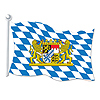 DISCONTINUED BAVARIAN FLAG DECORATION PARTY SUPPLIES