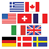 MINI INTERNATIONAL FLAG CUTOUTS PARTY SUPPLIES