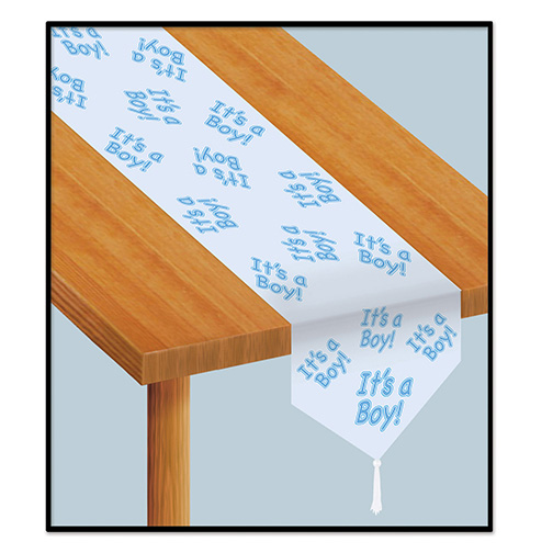 Click for larger picture of IT'S A BOY! TABLE RUNNER PARTY SUPPLIES