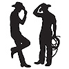 COWBOY SILHOUETTES PARTY SUPPLIES