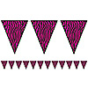ZEBRA PRINT PENNANT BANNER (12/CS) PARTY SUPPLIES