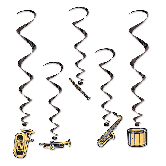 MUSICAL INSTRUMENTS WHIRLS PARTY SUPPLIES