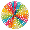 POLKA DOT TISSUE FAN (12/CS) PARTY SUPPLIES