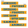 CIRCUS SIGN CUTOUTS PARTY SUPPLIES