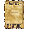 WESTERN WANTED SIGN PARTY SUPPLIES