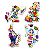 CLOWN CUTOUTS PARTY SUPPLIES