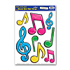 NEON MUSICAL NOTES PEEL 'N PLACE PARTY SUPPLIES