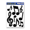 BLACK MUSICAL NOTES PEEL 'N PLACE  PARTY SUPPLIES