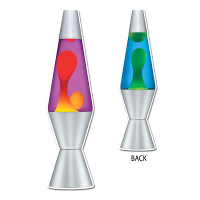 Click for larger picture of LAVA LAMP CUTOUT (24/CS) PARTY SUPPLIES