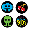 80'S COASTERS (96/CS) PARTY SUPPLIES