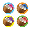 COCONUT COASTERS (96/CS) PARTY SUPPLIES