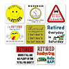 RETIREMENT COASTERS (96/CS) PARTY SUPPLIES