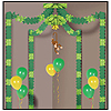 JUNGLE MONKEY PARTY CANOPY (6/CS) PARTY SUPPLIES