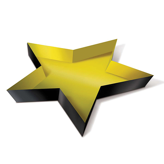 PLASTIC AWARDS NIGHT STAR TRAY (24/CS) PARTY SUPPLIES
