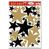 BLACK-GOLD STAR CLINGS PARTY SUPPLIES