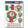 PEEL 'N PLACE BALL MEXICO (12/CS) PARTY SUPPLIES