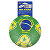 PEEL 'N PLACE BALL BRASIL (12/CS) PARTY SUPPLIES