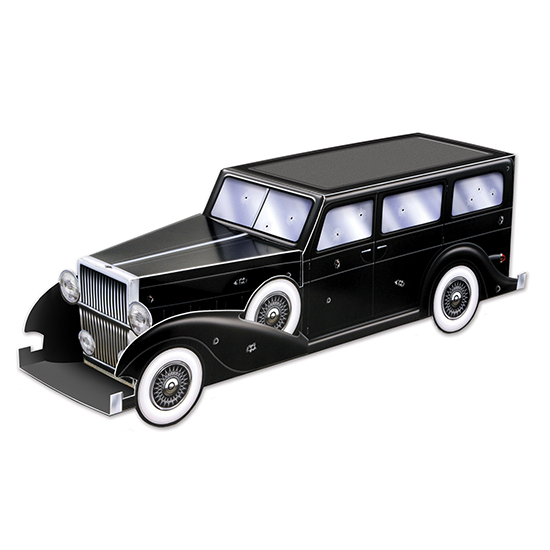 GANGSTER CAR CENTERPIECE (12/CS) PARTY SUPPLIES