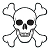 SKULL & CROSSBONES CUTOUT (12/CS) PARTY SUPPLIES