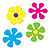 RETRO FLOWER CUTOUTS PARTY SUPPLIES