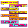 DISCO STREET SIGN CUTOUTS PARTY SUPPLIES