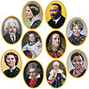 FACES IN HISTORY CUTOUTS PARTY SUPPLIES
