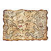 JUMBO TREASURE MAP CUTOUT (12/CS) PARTY SUPPLIES
