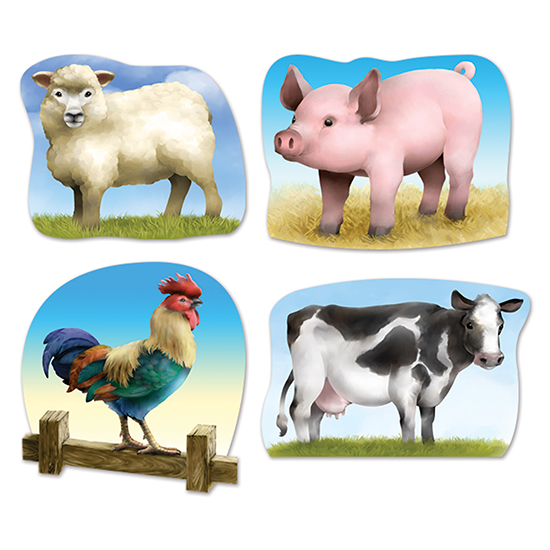 Click for larger picture of FARM ANIMAL CUTOUTS PARTY SUPPLIES