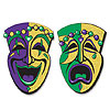 GLITTERED COMEDY TRAGEDY FACES (24/CS) PARTY SUPPLIES