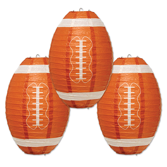 FOOTBALL PAPER LANTERNS PARTY SUPPLIES