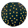 BLACK-GOLD STAR PAPER LANTERNS PARTY SUPPLIES