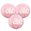 IT'S A GIRL PAPER LANTERNS PARTY SUPPLIES