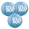IT'S A BOY PAPER LANTERNS PARTY SUPPLIES