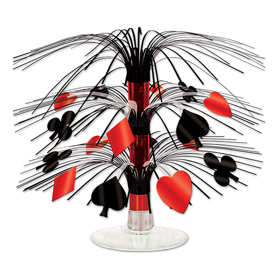 CASINO MINI CASCADE CENTERPIECE (12/CS) PARTY SUPPLIES