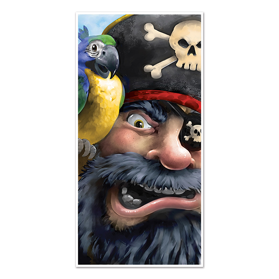 PIRATE DOOR COVER (12/CS) PARTY SUPPLIES