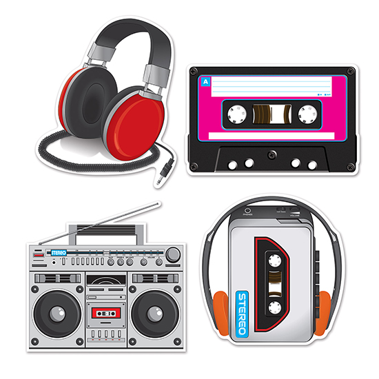 CASSETTE PLAYER CUTOUTS PARTY SUPPLIES