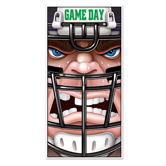 Click for larger picture of FOOTBALL DOOR COVER (12/CS) PARTY SUPPLIES