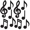 MINI MUSICAL NOTES SILHOUETTES (240/CS) PARTY SUPPLIES