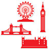 LONDON SILHOUETTES (48/CS) PARTY SUPPLIES