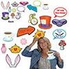 ALICE IN WONDERLAND PHOTO FUN SIGNS (144 PARTY SUPPLIES