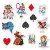 ALICE IN WONDERLAND CUTOUTS (144/CS) PARTY SUPPLIES