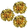 GOLD METALLIC FLUFF BALLS (36/CS) PARTY SUPPLIES