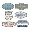 FRENCH SHOP SIGN CUTOUTS (72/CS) PARTY SUPPLIES