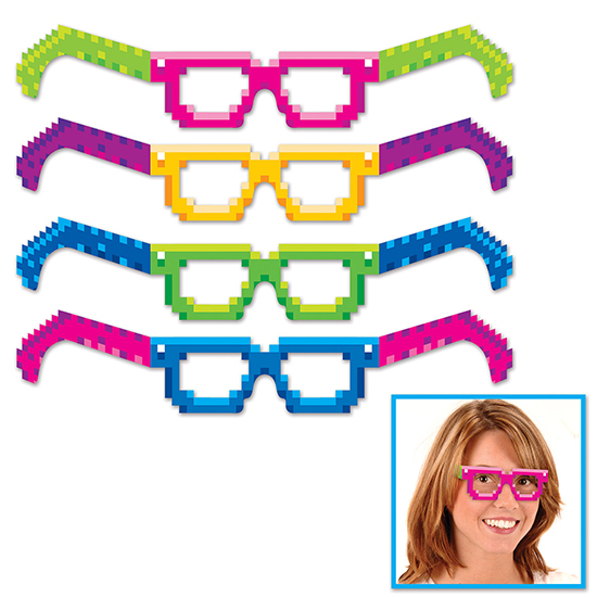 8-BIT EYEGLASSES PARTY SUPPLIES